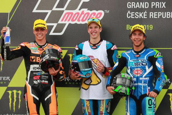 Podium: race winner Alex Marquez, Marc VDS Racing, second place Fabio Di Giannantonio, Speed Up Racing, third place Enea Bastianini, Italtrans Racing Team