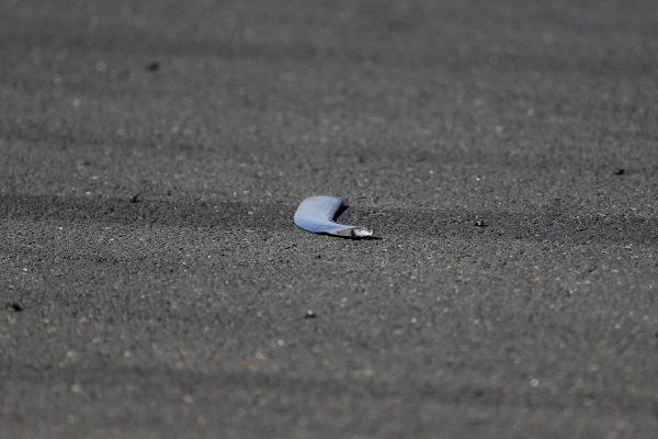Debris from Lewis Hamilton, Mercedes AMG F1 W10