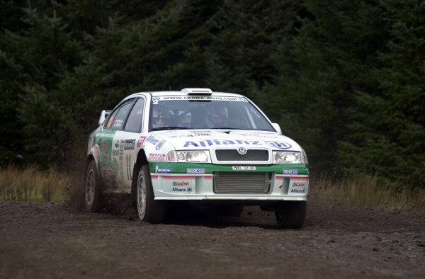 2001 FIA World Rally Championship.Rally of Great Britain. Cardiff, Wales. November 22-25, 2001.Armin Schwarz on Stage 3 - Tyle.Photo: Ralph Hardwick/LAT