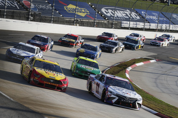 #22: Joey Logano, Team Penske, Ford Mustang Shell Pennzoil #11: Denny Hamlin, Joe Gibbs Racing, Toyota Camry FedEx Ground