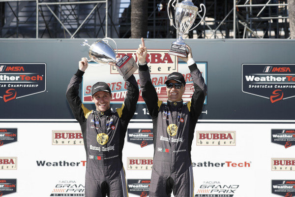#5 Mustang Sampling Racing Cadillac DPi, DPi: Joao Barbosa, Filipe Albuquerque, podium