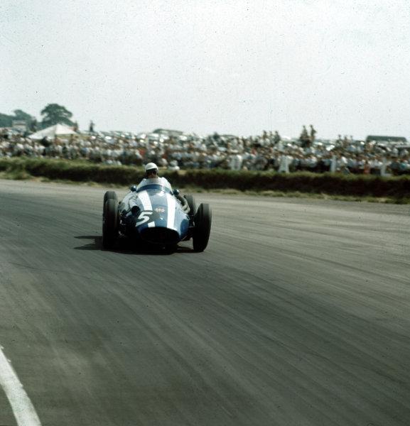 1958 British Grand Prix.Silverstone, England.17-19 July 1958 .Carroll Shelby (Scuderia Centro Sud Maserati 250F) 9th position.Ref-3/0097.World Copyright - LAT Photographic