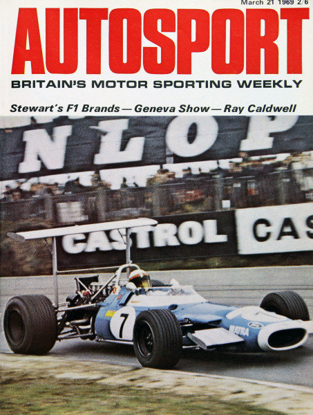 Cover of Autosport magazine, 21st March 1969