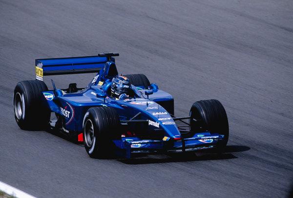 2001 Hungarian Grand Prix.Hungaroring, Budapest, Hungary. 17-19 August 2001.Heinz-Harald Frentzen (Prost AP04 Acer).Ref-01 HUN 25.World Copyright - Clive Rose/LAT Photographic
