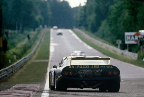Le Mans, France. 14th - 15th June 1980.Jean Xhenceval / Herve Regout / Pierre Dieudonne (Ferrari 512 BB), 10th position, action. World Copyright: LAT Photographic.