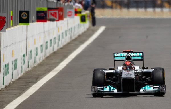 Interlagos, Sao Paulo, Brazil. 26th November 2011. Michael Schumacher, Mercedes GP W02. Action.  World Copyright: Steve Etherington/LAT Photographic ref: Digital Image SNE26973