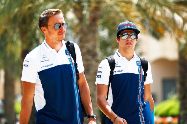 Bahrain International Circuit, Sakhir, Bahrain.  Friday 14 April 2017. Lance Stroll, Williams Martini Racing.  World Copyright: Sam Bloxham/LAT Images ref: Digital Image _J6I8709