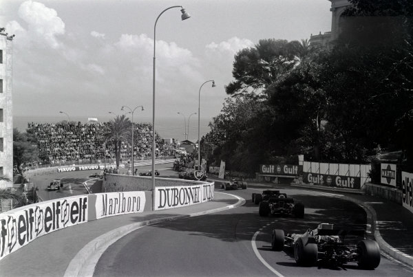 1970 Monaco Grand Prix. Monte Carlo, Monaco. 7 - 10 May 1970. Jackie Stewart (March 701-Ford), retired leads through Station Hairpin on the 1st lap, action.  World Copyright: LAT Photographic. Ref: L70 - 425 - 2A.