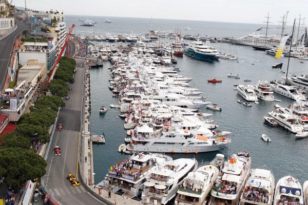 Monte Carlo, Monaco16th May 2010ek leads Felipe Massa, Ferrari F10, 4th position, Lewis Hamilton, McLaren MP4-25 Mercedes, 5th position, Rubens Barrichello, Williams FW32 Cosworth, retired, and Michael Schumacher, Mercedes GP W01, 6th position. Action. World Copyright: Steven Tee/LAT Photographicref: Digital Image _A8C1437