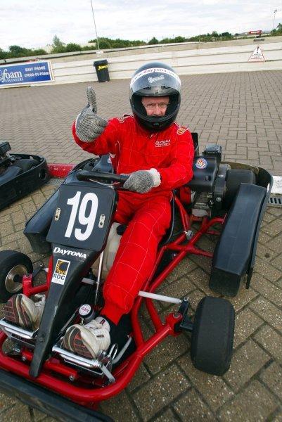 Gary Farnes (GBR) Accountant finished fifteenth.   Sutton Motorsport Images Annual Karting Grand Prix; Daytona International Raceway, Milton Keynes, England, 24 July 2003.DIGITAL IMAGE