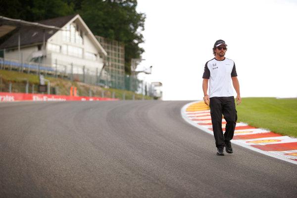 Spa-Francorchamps, Spa, Belgium. Thursday 20 August 2015. Fernando Alonso, McLaren. World Copyright: Steven Tee/LAT Photographic ref: Digital Image _L4R9293