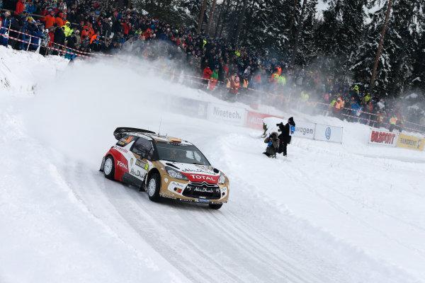 2013 FIA World Rally Championship Round 02-Rally Sweden 07-10 Februari 2013. Dani Sordo, Citroen WRC, Action.. Worldwide Copyright: McKlein/LAT