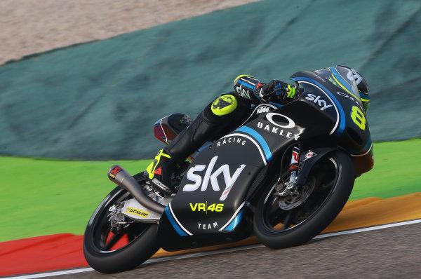2017 Moto3 Championship - Round 14 Aragon, Spain. Saturday 23 September 2017 Nicolo Bulega, Sky Racing Team VR46 World Copyright: Gold and Goose / LAT Images ref: Digital Image 14020