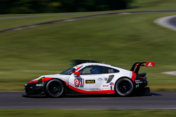 IMSA WeatherTech SportsCar Championship Michelin GT Challenge at VIR Virginia International Raceway, Alton, VA USA Friday 25 August 2017 911, Porsche, Porsche 911 RSR, GTLM, Patrick Pilet, Dirk Werner World Copyright: Jake Galstad LAT Images
