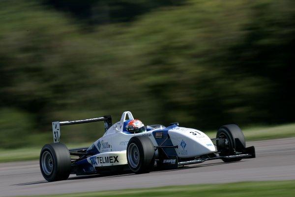 2007 British Formula Three Championship.Thruxton, England. 25th and 26th August 2007.Sergio Perez (T Sport).Action.World Copyright: Drew Gibson/LAT