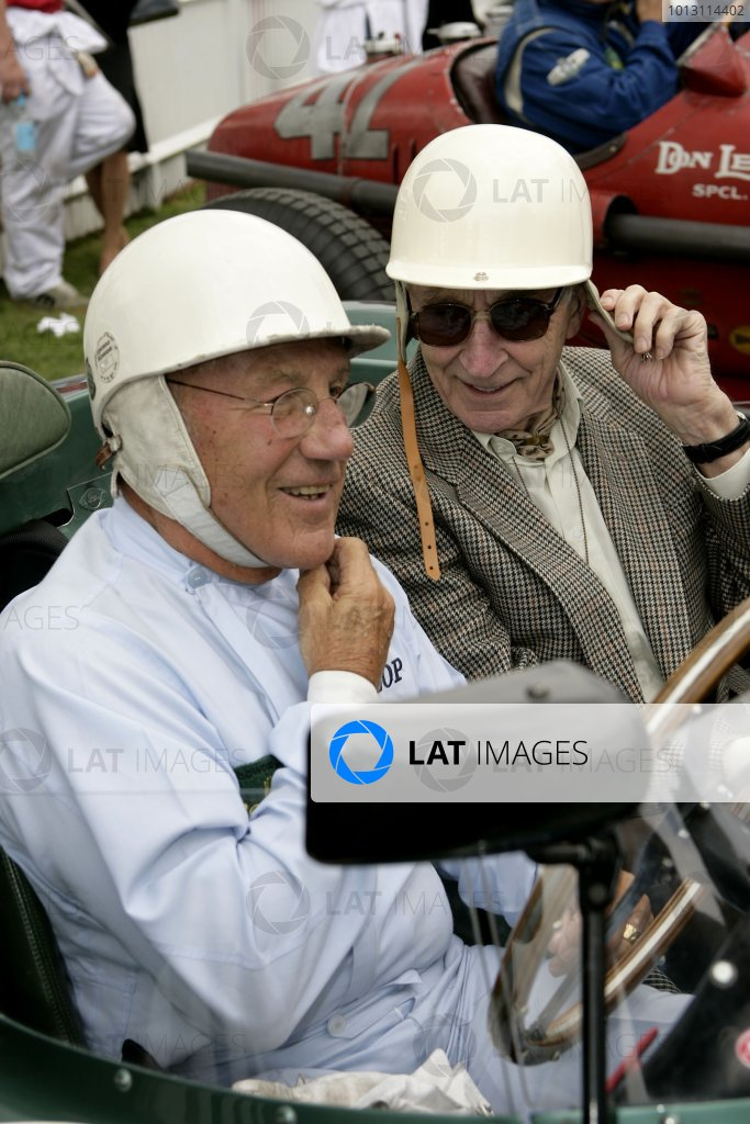 Goodwood, West Sussex. 1st - 2nd September 2007.  Tribute to Roy Salvadori.  Sir Stirling Moss and Roy Salvadori. World Copyright: Gary Hawkins/LAT Photographic  ref: Digital Image Only