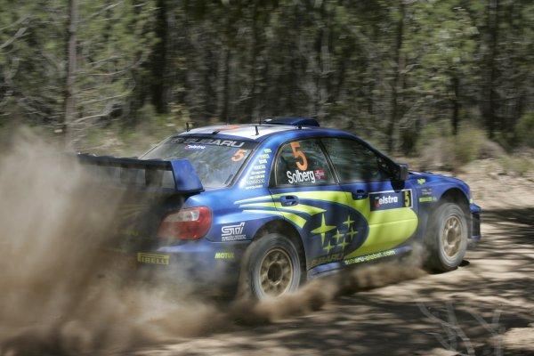 2005 FIA World Rally Champs. Round Sixteen, Rally Australia.10th - 13th November 2005.Petter Solberg, Subaru, action.World Copyright: McKlein/LAT
