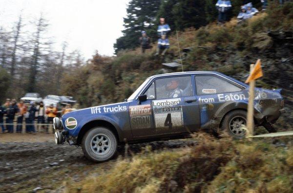 1978 World Rally Championship.Lombard RAC Rally, Great Britain. 19-23 November 1978.Hannu Mikkola/Arne Hertz (Ford Escort RS), 1st position.World Copyright: LAT PhotographicRef: 35mm transparency 78RALLY08
