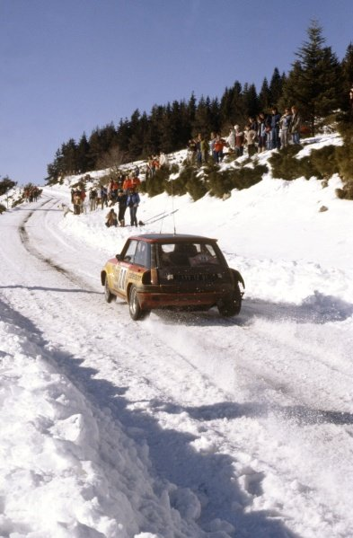 1981 World Rally Championship.Monte Carlo Rally, Monaco. 24-30 January 1981.Bruno Saby/Daniel La Saux (Renault 5 Turbo), 85th position.World Copyright: LAT PhotographicRef: 35mm transparency 81RALLY20