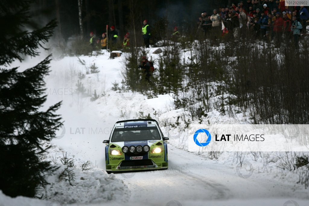 2006 FIA World Rally Champs. Round two Swedish Rally.2nd-5th February 2006.Marcus Gronholm, Ford, action.World Copyright: McKlein/LAT