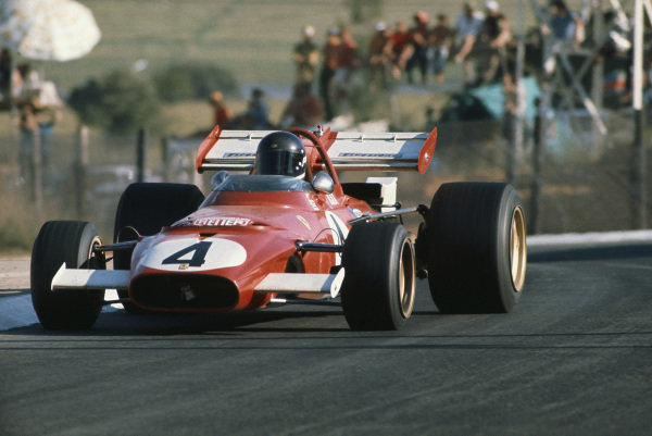 1971 South African Grand Prix.  Kyalami, South Africa. 4-6th March 1971.  Jacky Ickx, Ferrari 312B, 8th position.  Ref: 71SA22. World Copyright: LAT Photographic