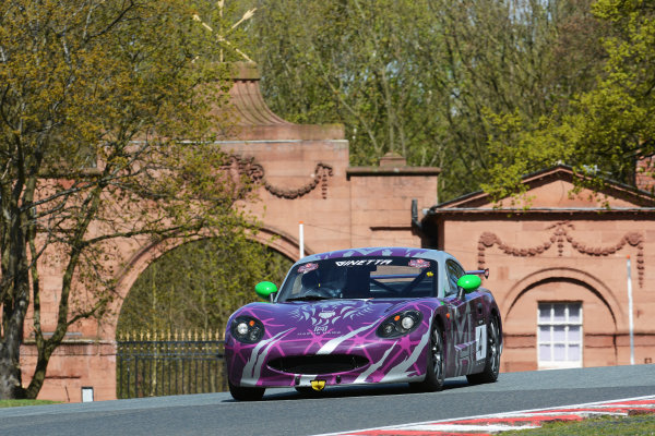 2017 Ginetta Racing Drivers Club + Oulton Park, Cheshire. 15th April 2017. Phil Ingram Ginetta G40. World Copyright: JEP/LAT Images.