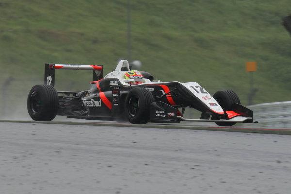 2017 Japanese Formula 3 Championship. Fuji, Japan. 13th - 14th May 2017. Rd 6 & 7. Rd 6 Winner Alex Palou ( #12 ThreeBond Racing with DRAGO CORSE ) action World Copyright: Yasushi Ishihara / LAT Images. Ref: 2017JF3_Rd6&7_02