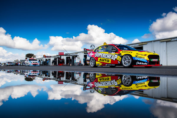 2017 Supercars Championship Round 5.  Winton SuperSprint, Winton Raceway, Victoria, Australia. Friday May 19th to Sunday May 21st 2017. Chaz Mostert drives the #55 Supercheap Auto Racing Ford Falcon FGX. World Copyright: Daniel Kalisz/LAT Images Ref: Digital Image 200517_VASCR5_DKIMG_5191.NEF