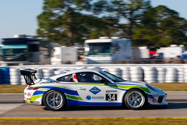 2017 Porsche GT3 Cup USA Sebring International Raceway, Sebring, FL USA Wednesday 15 March 2017 34, Shaun McKaigue, GT3P, USA, M, 2017 Porsche 991 World Copyright: Jake Galstad/LAT Images ref: Digital Image lat-galstad-SIR-0317-14874