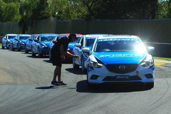 Mazda 6 line up. Mazda 6 Celebrity Challenge,  Albert Park, Melbourne, Australia, 13-17 March 2013.