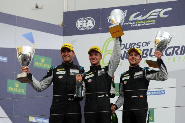2017 World Endurance Championship, Nurburgring, Germany. 14th-16th July 2017 GT AM Podium  World copyright. JEP/LAT Images