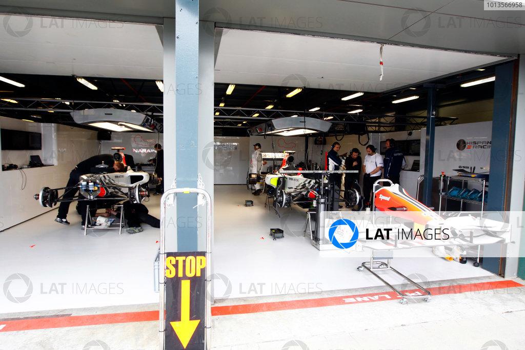 Albert Park, Melbourne, Australia25th March 2011.The HRT F111 Cosworths in the garage. Garages. Technical. World Copyright: Glenn Dunbar/LAT Photographicref: Digital Image