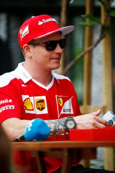 Sepang International Circuit, Sepang, Malaysia. Thursday 29 September 2016. Kimi Raikkonen, Ferrari. World Copyright: Andy Hone/LAT Photographic ref: Digital Image _ONY9165