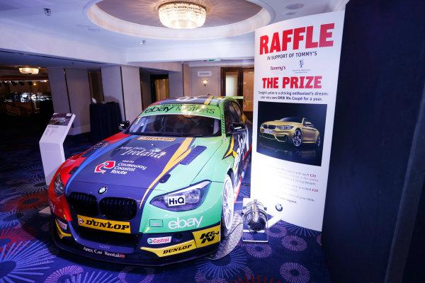 2014 Autosport Awards. Grosvenor House Hotel, Park Lane, London. Sunday 7 December 2014. Raffle prize. World Copyright: Sam Bloxham/LAT Photographic. ref: Digital Image _14P3451