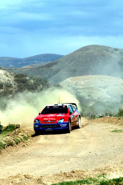 2004 FIA World Rally Champs. Round three, Corona Rally Mexico.11th-14th March 2004.Sebastien Loeb, Citroen, action.World Copyright: McKlein/LAT