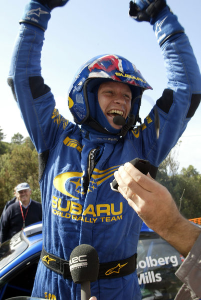 2003 FIA World Rally Champs. Round Twelve Corsica Rally 16th-19th October 2003.Petter Solberg, Subaru, Portrait World Copyright: McKlein/LAT