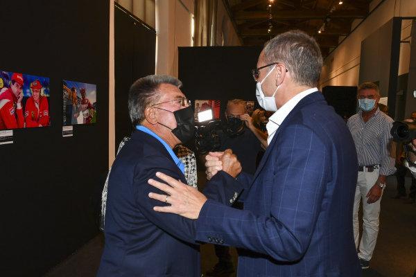 Rainer Schlegelmilch and Stefano Domenicali Motorsport Images Exhibition at Villa Reale di Monza