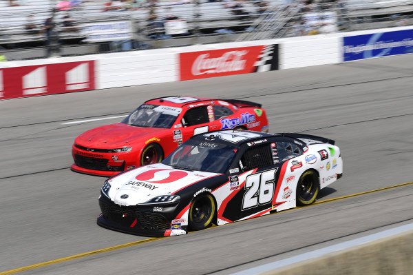 #26: John Hunter Nemechek, Sam Hunt Racing, Toyota Supra Safeway, #6: Ryan Vargas, JD Motorsports, Chevrolet Camaro TeamJDMotorsports.com