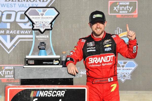 #7: Justin Allgaier, JR Motorsports, Chevrolet Camaro BRANDT Professional Agriculture wins