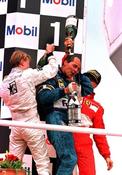 1997 German Grand Prix.Hockenheim, Germany.25-27 July 1997Gerhard Berger (Benetton Renault) 1st position.World Copyright - LAT Photographic