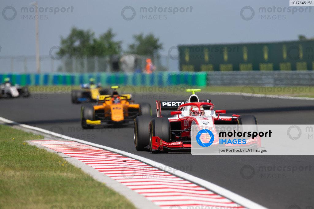 HUNGARORING, HUNGARY - AUGUST 03: Sean Gelael (IDN,PREMA RACING) during the Hungaroring at Hungaroring on August 03, 2019 in Hungaroring, Hungary. (Photo by Joe Portlock / LAT Images / FIA F2 Championship)