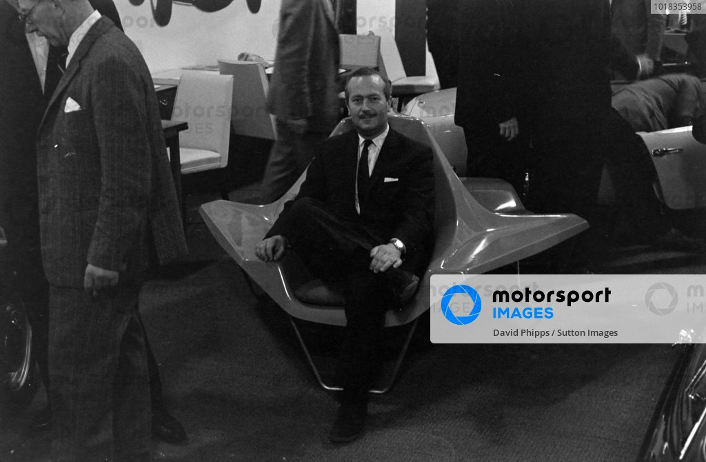 Colin Chapman in Lotus chair