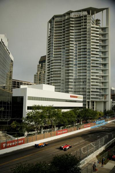 #8: Marcus Ericsson, Chip Ganassi Racing Honda, #7: Felix Rosenqvist, Arrow McLaren SP Chevrolet