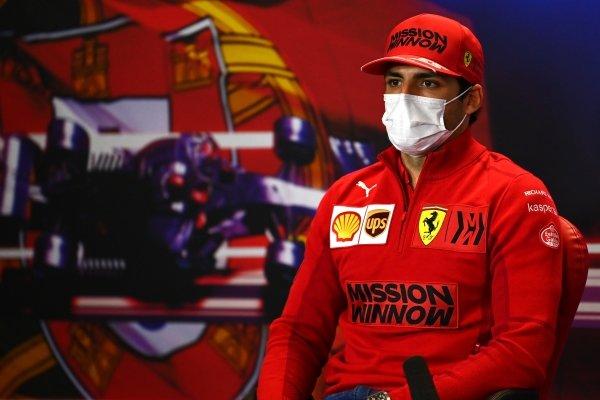 Carlos Sainz, Ferrari in the Press Conference