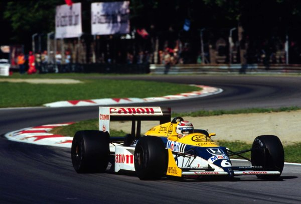 1987 Italian Grand Prix. Monza, Italy. 4-6 September 1987. Nelson Piquet (Williams FW11B Honda) 1st position. World Copyright - LAT Photographic
