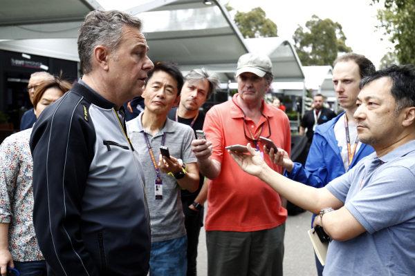 Mario Isola, Racing Manager, Pirelli Motorsport talks to the press
