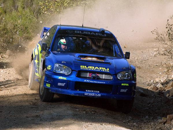 2003 FIA World Rally Championship. Kemer, Turkey. Rd3.26/2-2/3 2003.Petter Solberg/Philip Mills (Subaru Impreza WRC '03).World Copyright: McKlein/LAT Photographic