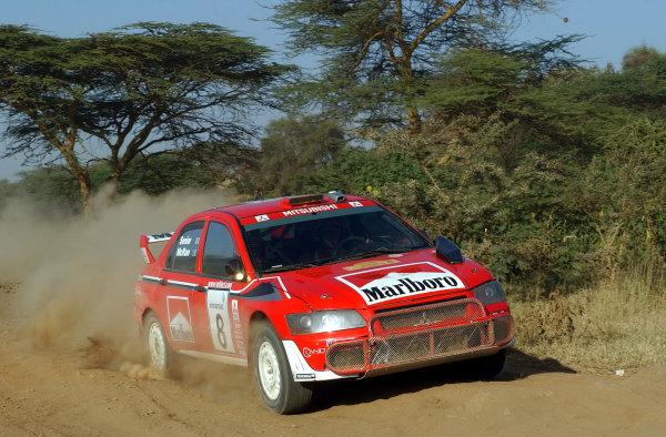 2002 World Rally Championship.Safari Rally, Nairobi Kenya, July 11-14th.Alister McRae on section 10.Photo: Ralph Hardwick/LAT