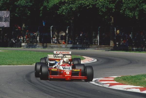 1987 Italian Grand Prix.  Monza, Italy. 4-6 September 1987.  Martin Brundle, Zakspeed 871.  Ref: 87ITA32. World Copyright: LAT Photographic