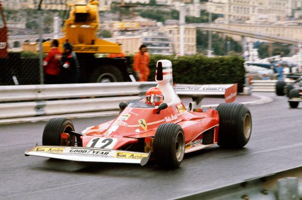 1975 Monaco Grand Prix  Monte Carlo, Monaco. 8-11th May 1975.  Niki Lauda, Ferrari 312T, 1st position.  Ref: 75MON04. World copyright: LAT Photographic